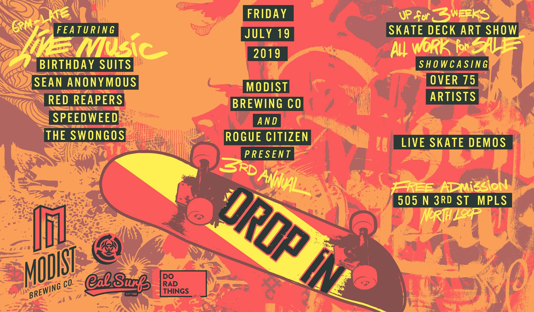 Drop In: Skateboarding, Art, & Live Music - Modist Brewing Co